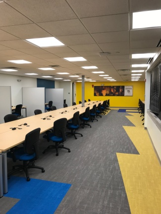 Conference Room at ZeniMax Media with wall graphics